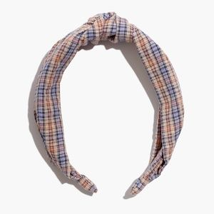 2 For 32⚡Madewell Knotted Covered Headband - Rainw